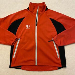 Pearl iZumi Womens Small Red Cycling Jacket Full Zip Slim Fit Mock Neck EUC