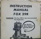 FOX Model Airplane Engine Motor Bath Tub 29R original manual Excellent Condition