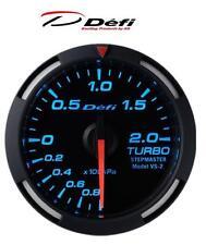 Defi Racer 60mm Car Boost 2 Bar Gauge - Blue - JDM Style Stepper Motor