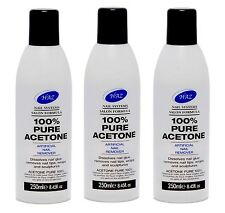 100% Pure Acetone Artificial Nail Remover -Pro Formula X 3