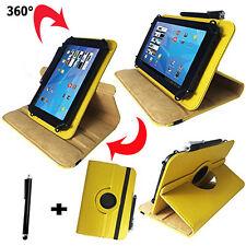 7 zoll Tablet Tasche - Xoro TelePAD 7A3 10A3 Umts  Hülle Etui - 360° Gelb 7