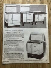 VINTAGE RANGES AND FURNACES ADVERTISING PAGE FROM '48-'49 EATON'S  CATALOGUE