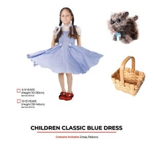 Girls The Wizard of Oz Dorothy Costume Book Week Fancy Dress Toto in Basket