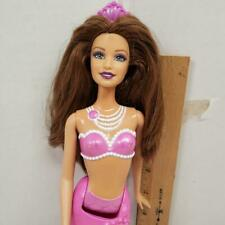 Barbie Pearl Princess Mermaid Teresa Doll Brunette Hair Pink Pearls Crown Tail