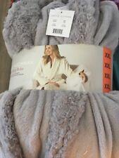 CAROLE HOCHMAN Women's Robe SILVER GRAY Plush Soft Fleece Wrap XX Large cozy