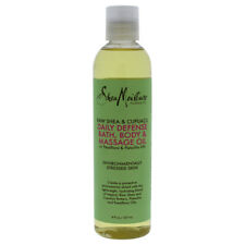3 Pack Raw Shea & Cupuacu Daily Defense Massage Oil by Shea Moisture - 8 oz