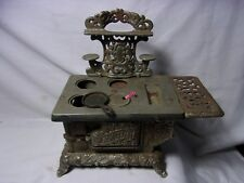 Antique Eagle Miniature Old Toy Cast Iron Stove Salesman Sample   T*