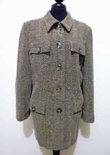 LUISA SPAGNOLI Giacca Donna Lana Tweed Wool Woman Jacket Sz.M - 44