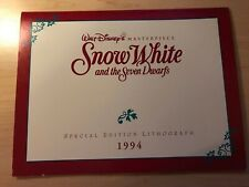 Snow White And The Seven Dwarfs Disney Special Edition Lithograph 1994 Gold Seal