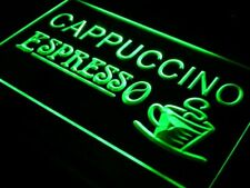 i317-g Cappuccino Espresso Coffee Cafe Neon Light Sign