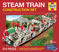 STEAM TRAIN CONSTRUCTION SET 314 PIECES HAYNES STAINLESS STEEL Meccano Like