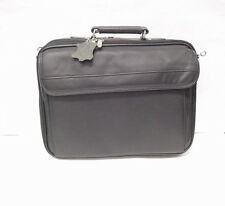 Laptop Computer Black Leather carrying case