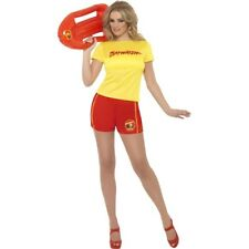 Baywatch Beach Babe Ladies Fancy Dress Costume Licensed Bay Watch Outfit 8/10