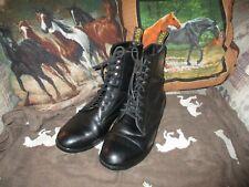 Sazon womens Black Lace up  Paddock Boots size 8.5