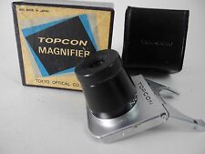 TOPCON/BESELER MAGNIFIER FINDER.W/ADAPTER LOOKS UNUSED WITH BOX AND CASE PERFECT