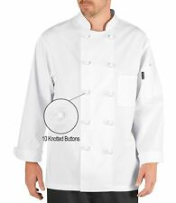 Chef Code Executive Chef Coat With 10 Cloth Knot Buttons Chef Jackets Cc121
