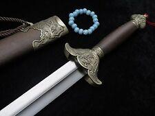 Training sword/Taiji jian/Damascus steel blade/Rosewood scabbard/Phoenix alloy
