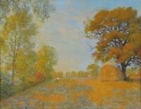 Addison Winchell Price RCA OSA Oil Painting Haystack in Autumn Listed 1907-2003