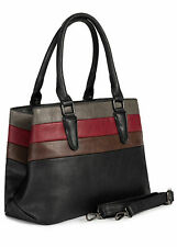 31% OFF B19115082 Damen Violet Handtasche Colorblock Kunstleder 38 x 23 schwarz