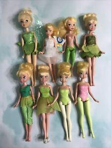 Disney Tinkerbell Tinker Bell Fairy Dolls Lot of 8, no wings Jakks, Disney Store