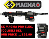 CK MAGMA MA2715A Electricians Tool Belt Set - Pouch, Drill Holster Phone Holder