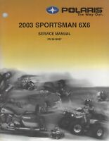 2003 POLARIS ATV SPORTSMAN 6X6 SERVICE MANUAL P/N 9918067 (546)