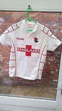 Inglaterra Kooga blanco y rojo RUGBY CAMISA TAMAÑO LB en muy buena condición