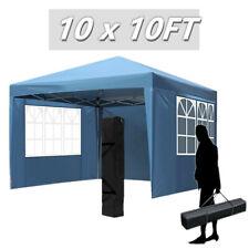 10x10' Pop Up Canopy Commercial Wedding Party Folding Gazebo Waterproof W/Bag