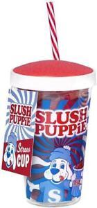 Fizz Creations Official Slush Puppie Straw Cup Mug 500 ml Slushie Slushy Puppy
