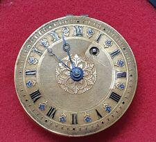 SIGLO XVIII MAQUINA RELOJ MOILLIET CON ESFERA DE ORO 18 QUILATES PESA 2,50 gr.