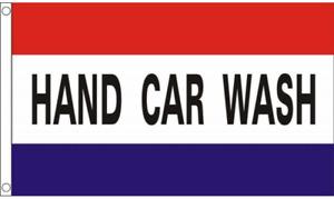 Hand Car Wash 5ft x 3ft Flag Car Washing Business Advertising Banner Garage
