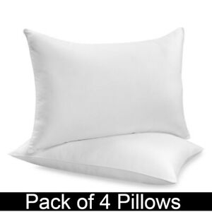 FOUR PACK DELUXE SUPER BOUNCE BACK PILLOWS - 4 BEDDING SET, 2 PAIRS