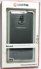 Griffin Reveal Clear Protective Case with White Trim for Samsung Galaxy Note 4
