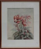 H.Wolcott - Blumen Aquarell