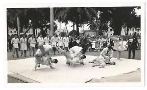 Honolulu Hawaii Police Training Martial Arts Asian-American Photograph c.1940s
