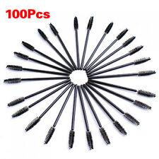 100pcs Disposable Eyelash Black Mascara Wand Applicator Brush LW