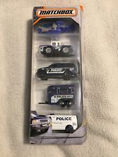 Matchbox Five Car Set Police New In Package
