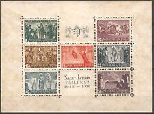 HUNGARY 1938 MI BL 4 SC.B97 A-G Saint Stephan beautiful sheet MNH** OG VF