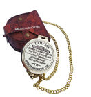 To My Son Gift For Son Engraved Brass Compass W/ Case Christmas Gift Fast Ship