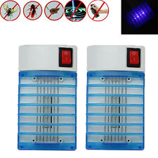 2 Lot LED Electric Mosquito Fly Bug Insect Trap Zapper Killer Night Lamp USA