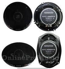 """2) Kenwood KFC-1695PS 6.5"""" 320W 3-Way + 2) KFC-6985PS 6x9"""" 600W 4-Way Speakers"""