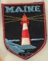 MAINE ME souvenir Lighthouse patch 2-5/8 X 2 #2639
