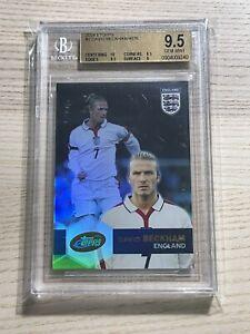 2004 Topps eTopps England Soccer DAVID BECKHAM 1/4676 PSA BGS 9.5 Centering 10
