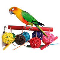 Pet Toy Bell Balls Bird Ball for Budgie Finch Parrot Cockatiel Chew Fun Toys