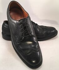 Vintage Florsheim Imperial Black  5-nail V-Cleat Wingtip Oxford Sz 10 B  92604