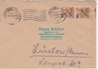 Germany 1949 Berlin Overprint Double Charlottenburg Cancel Stamps Cover Ref24077