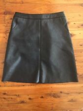 Above Knee Faux Leather Hand-wash Only Solid Skirts for Women