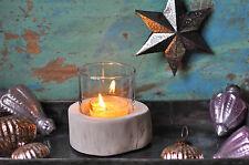 1x Windlicht Holz mit Glaseinsatz für Teelicht,Teelichthalter Glas