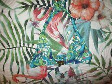 TRINA TURK BEAUTIFUL HALTER BIKINI TOP GREENS -BLUES SIZE 12