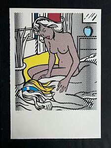 """ROY LICHTENSTEIN - Offset-Lithographie HANDSIGNIERT RAR :""""nude serie"""""""
